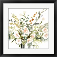 Framed Foraged Flowers I