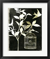 Framed Branch & Bird I