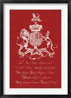 Framed Heraldry Pop I