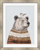 Framed Fair Isle Bear I