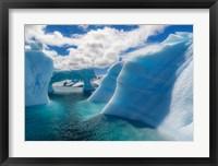 Framed Antarctic Peninsula, Antarctica Errera Channel, Beautiful Iceberg