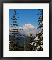 Framed Mount Garibaldi From The Chief Overlook At The Summit Of The Sea To Sky Gondola