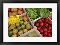 Framed Italy, Genoa Province, Rapallo Fresh Produce In Outdoor Market