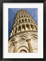 Framed Low-Angle View Of Leaning Tower Of Pisa, Tuscany, Italy