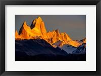Framed Argentina, Patagonia El Chalten, Fitz Roy