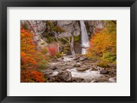 Framed Argentina, Patagonia Waterfall