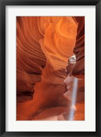 Framed Sunbeam In Upper Antelope Canyon Near Page, Arizona, USA