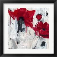 Framed Poppy Love