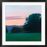 Framed Lawn at Twilight
