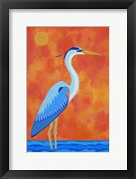 Framed Blue Heron