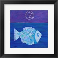 Framed Fish With Spiral Moon