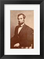 Framed Abraham Lincoln, 1861