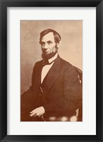 Framed Abraham Lincoln, 1861