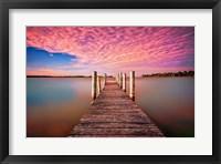 Framed Pink Pier