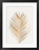 Framed Palm Leaf Gold