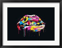 Framed Colorful Lips