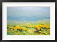 Framed Yellow Valley
