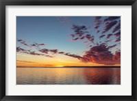 Framed Vivid Sunrise Clouds Over Fort Peck Reservoir, Charles M Russell National Wildlife Refuge, Montana