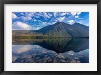 Framed Stanton Mountain Over A Calm Lake Mcdonald In Glacier National Park, Montana