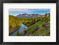 Framed South Fork Of The Two Medicine River In The Lewis And Clark National Forest, Montana