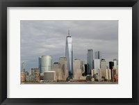 Framed One World Trade Center And Other Manhattan Skyscrapers Seen From Jersey City, NJ