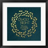 Framed O Holy Night Wreath