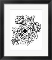 Framed Flower Sketch II