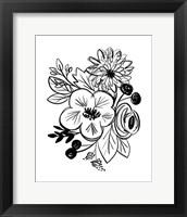 Framed Flower Sketch III