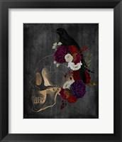 Framed Skull Raven