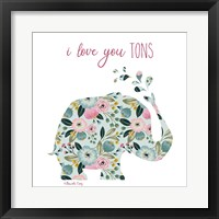 Framed Love You Tons