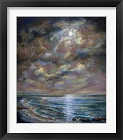 Framed Moody Moon Light I