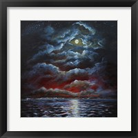 Framed Moody Moon Light II