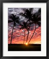 Framed Sunset Silhouette