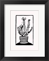 Framed Black Cactus