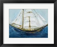 Framed Clipper Ship