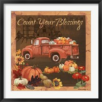 Framed Count Your Blessings V