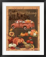 Framed Count Your Blessings VI