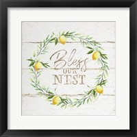 Framed Bless Our Nest