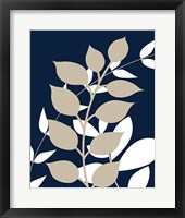 Framed Navy Foliage I