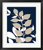 Framed Navy Foliage III