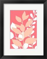 Framed Coral Foliage II