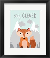 Framed Stay Clever Fox