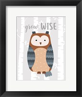 Framed Grow Wise Owl