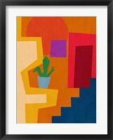 Modern Geometric House Framed Print