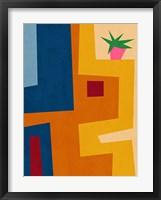 Modern Geometric House III Framed Print