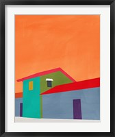 Framed Colorful Houses
