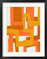Sunburst Tapestry II Framed Print