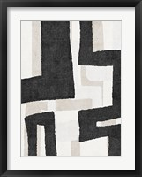 Neutral Abstract II Framed Print