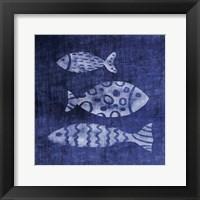 Framed White Fish on Blue