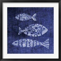 Framed White Fish on Blue